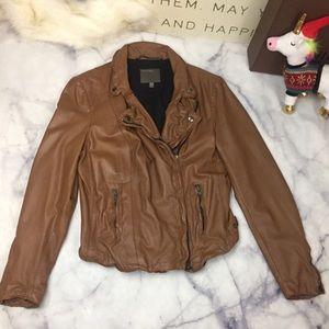 Muu Baa Browne leather moto jacket sz 10